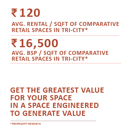 GET THE GREATES VALUE FOR YOUR SPACE IN A SPACE ENGINEERED TO GENERATE VALUE